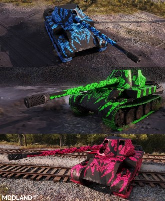 "Rheinmetall Skorpion G pack ""blue, green, hot pink"" 1.404 [1.4.0.1], 1 photo"